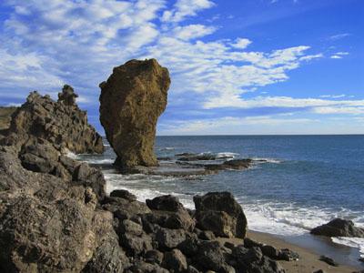 Vistas de la costa de Mojácar