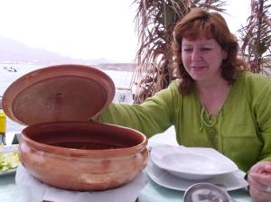 Gurullos con jibia del Resturante Isleta del Moro