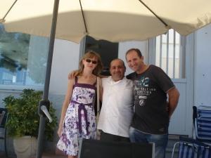 Terraza del Hotel Restaurante Alborán