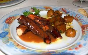 Cuajadera de pulpo en el Restaurante Rincón del Puerto de Garrucha