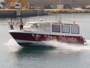Barco visión submarina