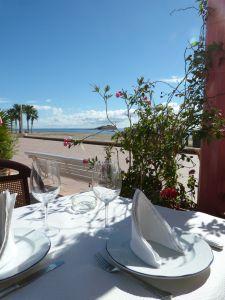 Vistas a la Isla de San Andrés desde el Restaurante Sol y playa