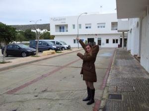 Beatriz Escribano en el Hotel Senderos donde se alojaron durante el Fin de semana con Sabor a mar