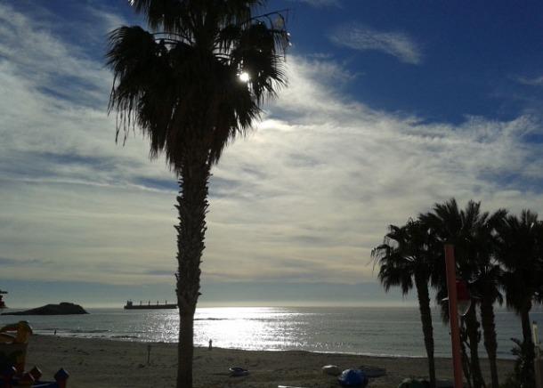 La vista de Yolanda Martínez desde el balcón del Sol y playa